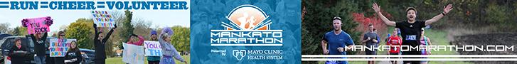 Visit Mankato / Mankato Marathon horizontal ad