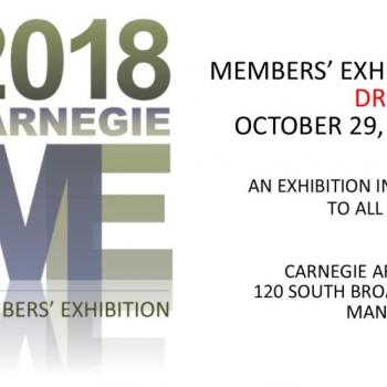 2018 Members' Exhibition Drop-Off October 29th, 5-7pm