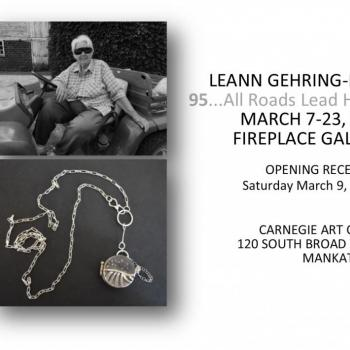 Mom on the Gator, photograph, and Starry Night, hand-forged locket by LeAnn Gehring-Ryan