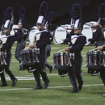 The Blue Stars drum line performs at the World Championships