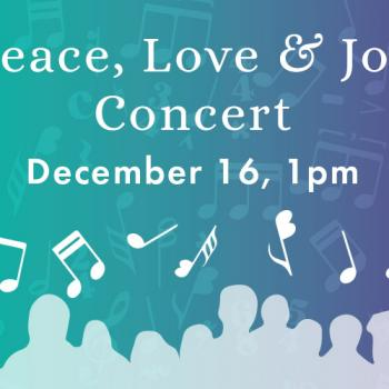 Peace, Love & Joy Concert