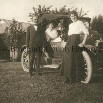 Family with their car