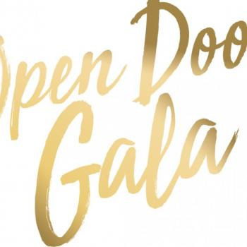 "a logo that says ""open door gala"""