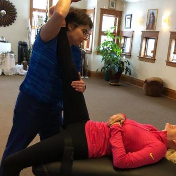 Try a free assisted stretch after the group self-stretch.