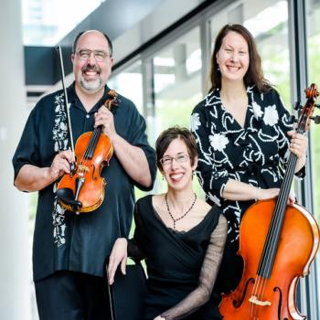The Bekesh Trio with Kenneth Freed on violin, Bethel Balge on piano, and Sharon Rodgers on cello