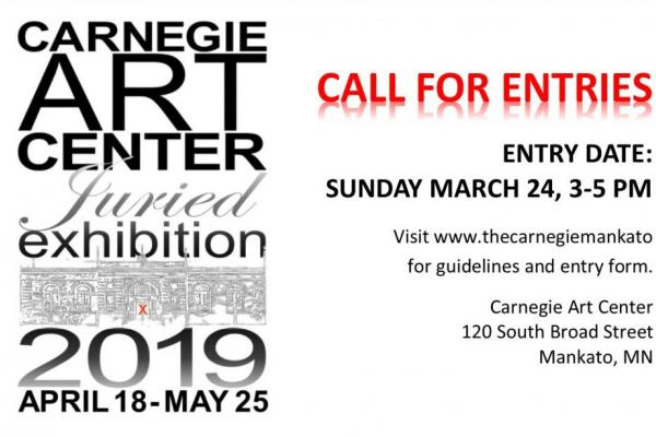 Sunday March 24, 3-5 pm Call for Entries: 2019 CAC Juried Exhibition