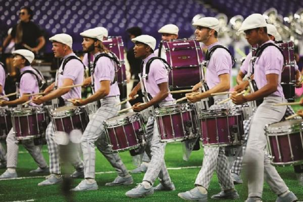 The Bluecoats drum line