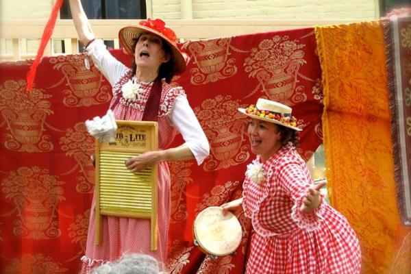Characters portraying the Cherry Sisters