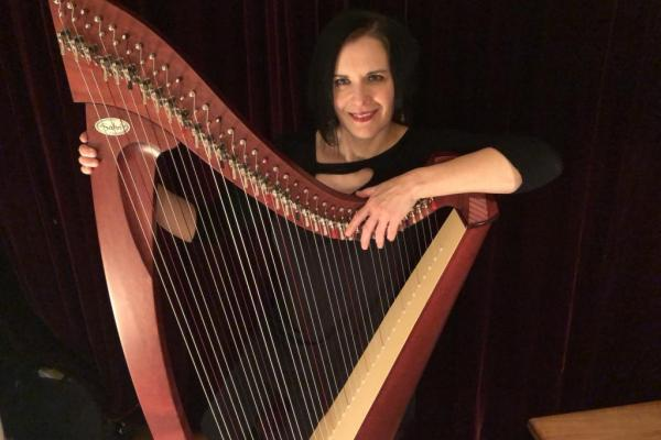 Harpist Amy Kortuem