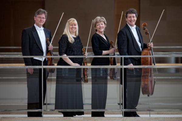 Violinist David Perry, violinist Suzanne Beia, violist Sally Chisholm, and cellist Parry Karp: Pro Arte Quartet