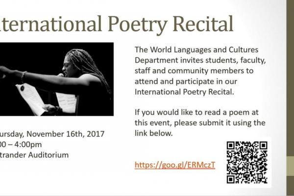 International Poetry Recital