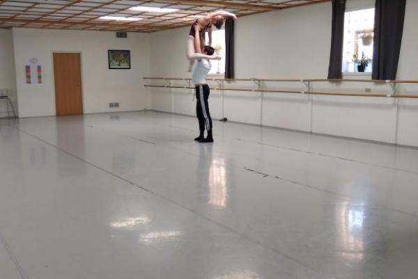 Practicing a lift from Don Quixote